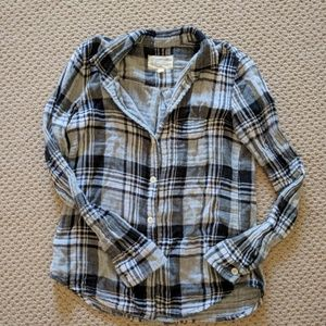 Current Elliot plaid button down shirt
